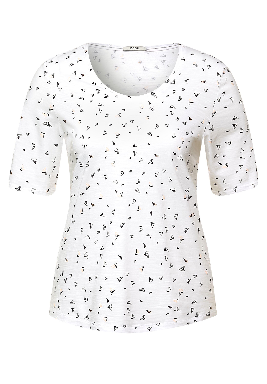 T-Shirt mit Minimal-Muster